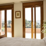 Golden Oak Double upvc casement door