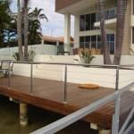 Beach house railing outdoor