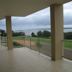 balustrade outdoor railing SS glass