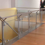 commercial flat post railing system